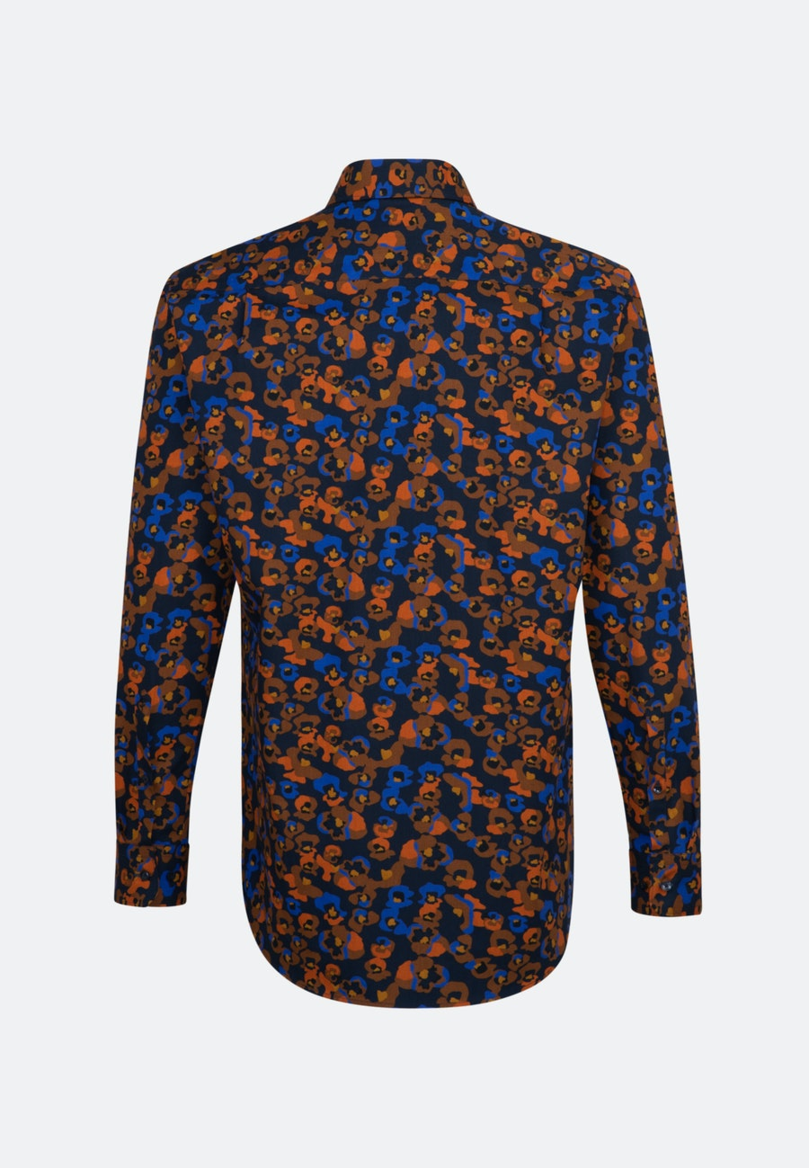 Easy-iron Popeline Business Shirt in Regular with Kent-Collar in Orange |  Seidensticker Onlineshop
