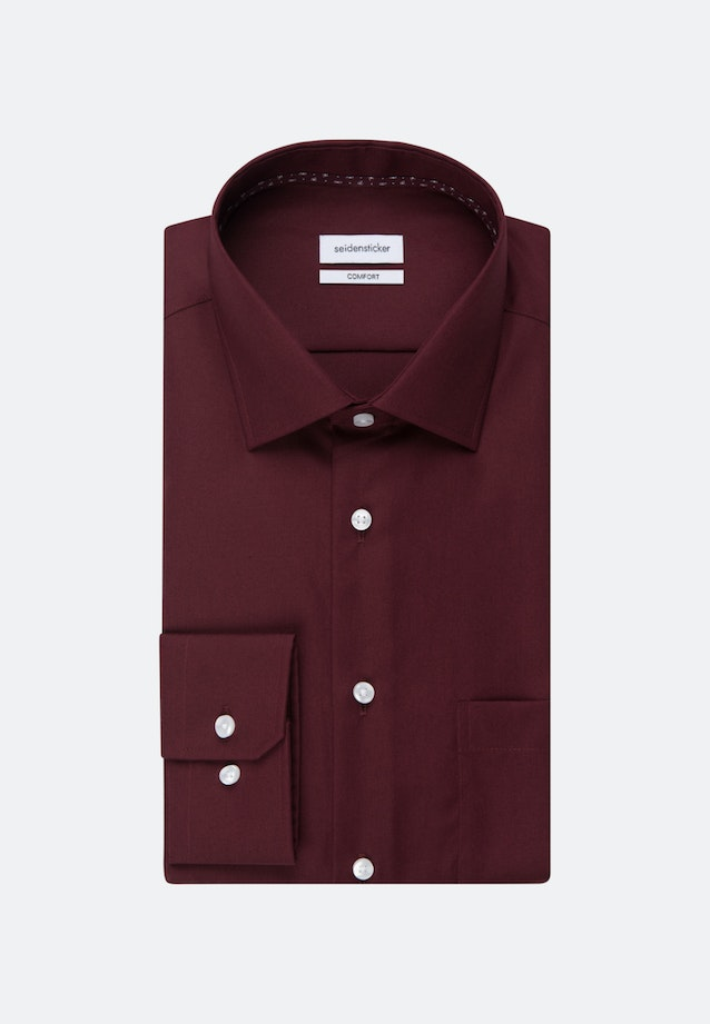 Non-iron Poplin Business Shirt in Comfort with Kent-Collar in Red |  Seidensticker Onlineshop
