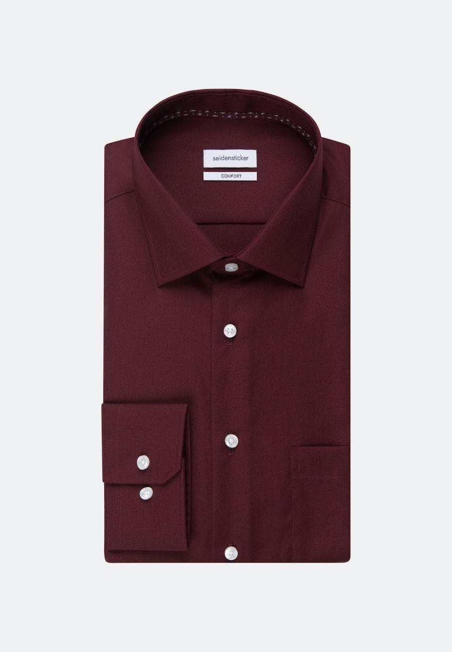 Non-iron Popeline Business Shirt in Comfort with Kent-Collar in Red |  Seidensticker Onlineshop