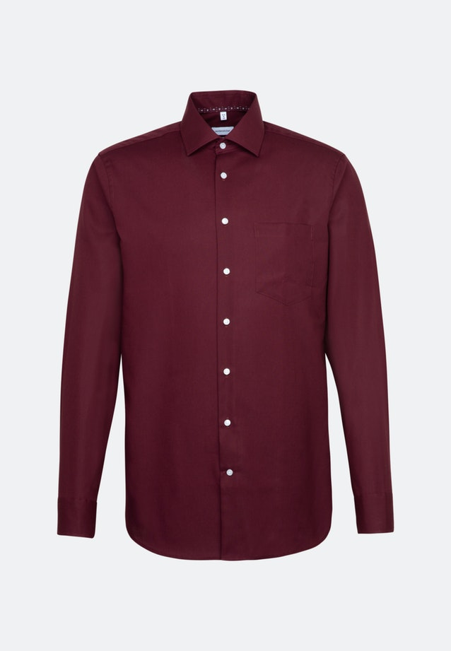 Non-iron Popeline Business Shirt in Comfort with Kent-Collar in Red |  Seidensticker Onlineshop