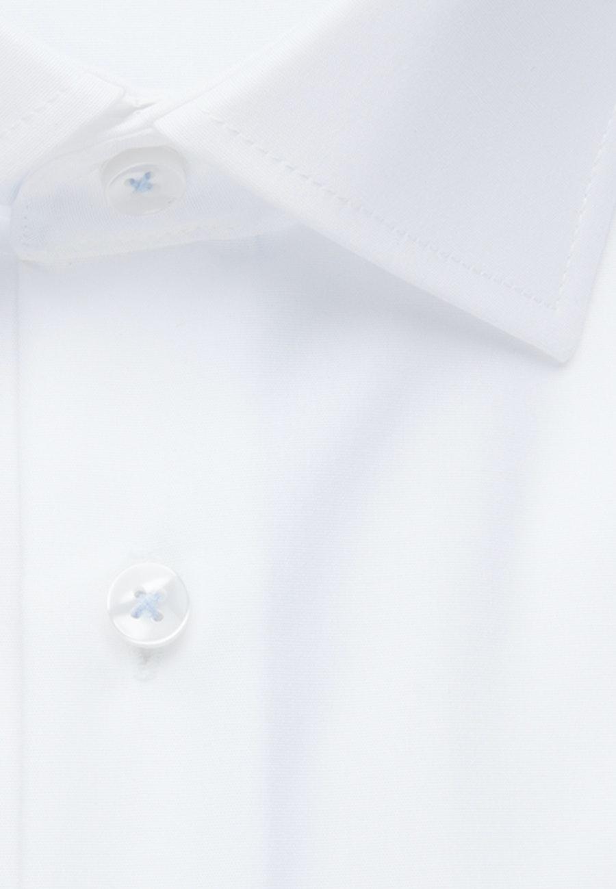 Non-iron Poplin Business Shirt in X-Slim with Kent-Collar in White    Seidensticker Onlineshop