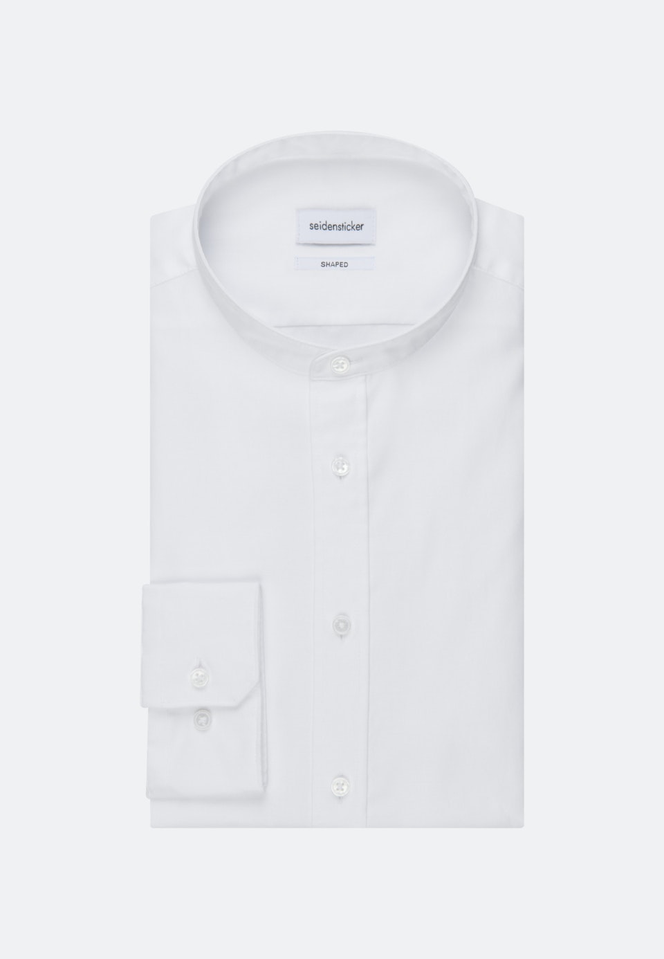 Twill Business Shirt in Shaped with Stand-Up Collar in White |  Seidensticker Onlineshop