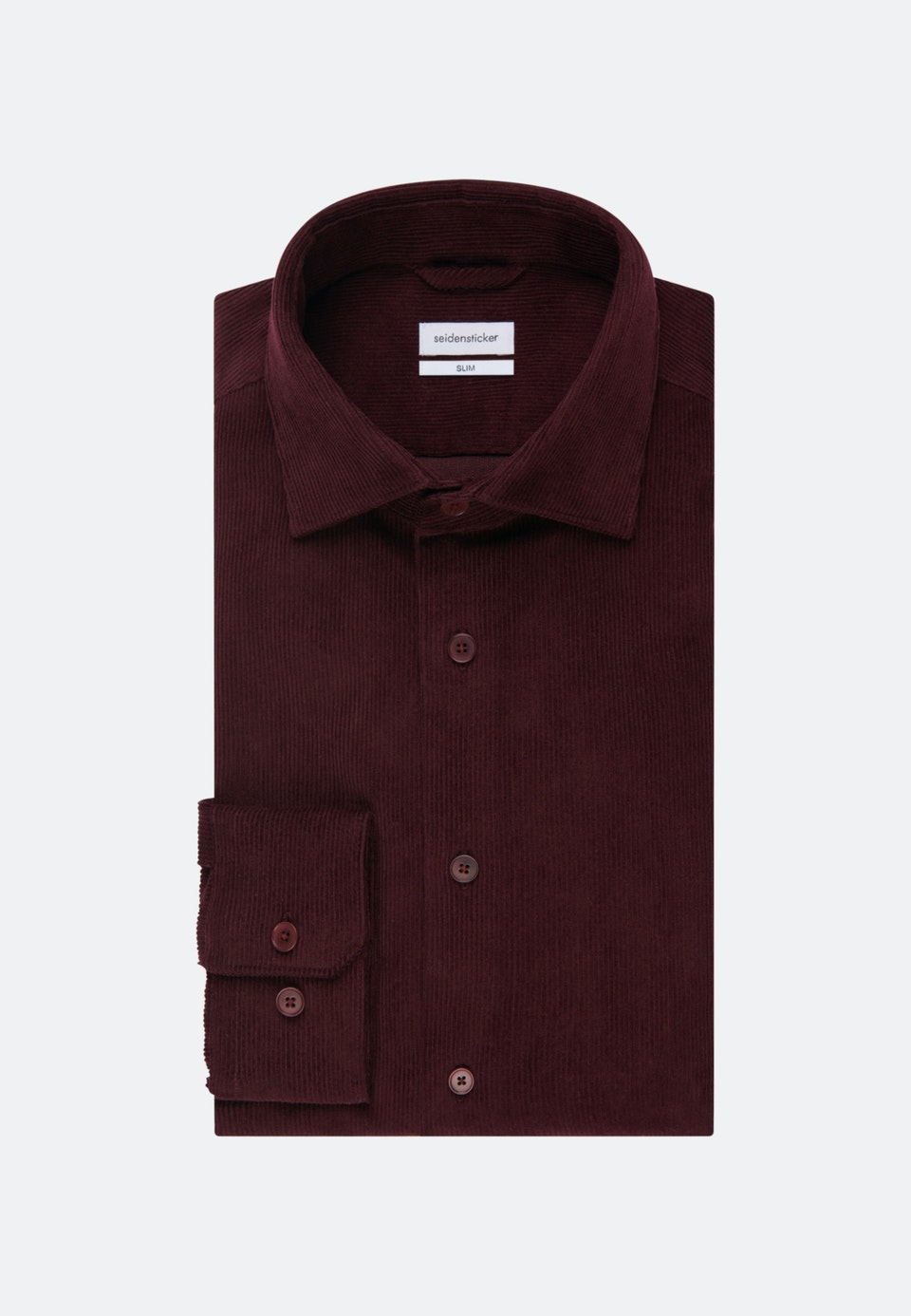 Easy-iron Cord Business Shirt in Slim with Kent-Collar in Red |  Seidensticker Onlineshop
