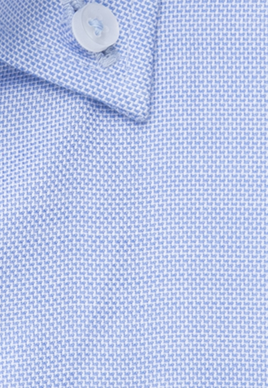 Bügelfreies Struktur Kurzarm Business Hemd in Regular mit Button-Down-Kragen in Hellblau |  Seidensticker Onlineshop