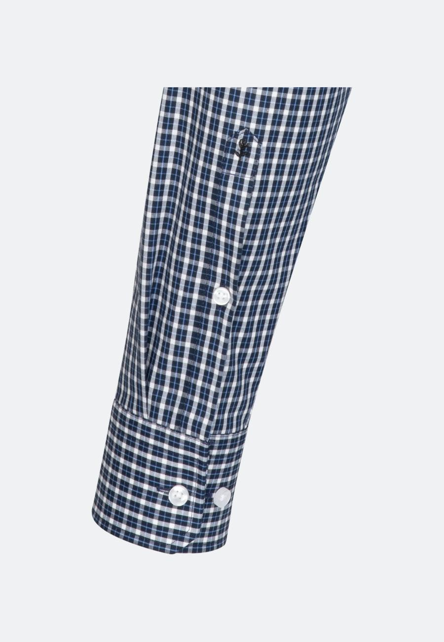 Non-iron Popeline Business Shirt in Regular with Button-Down-Collar in Dark blue |  Seidensticker Onlineshop