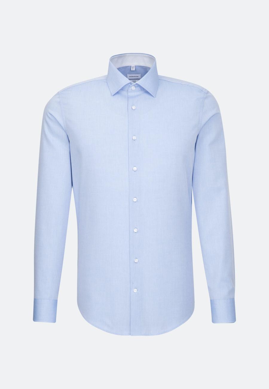Bügelfreies Chambray Business Hemd in X-Slim mit Kentkragen in Hellblau    Seidensticker Onlineshop