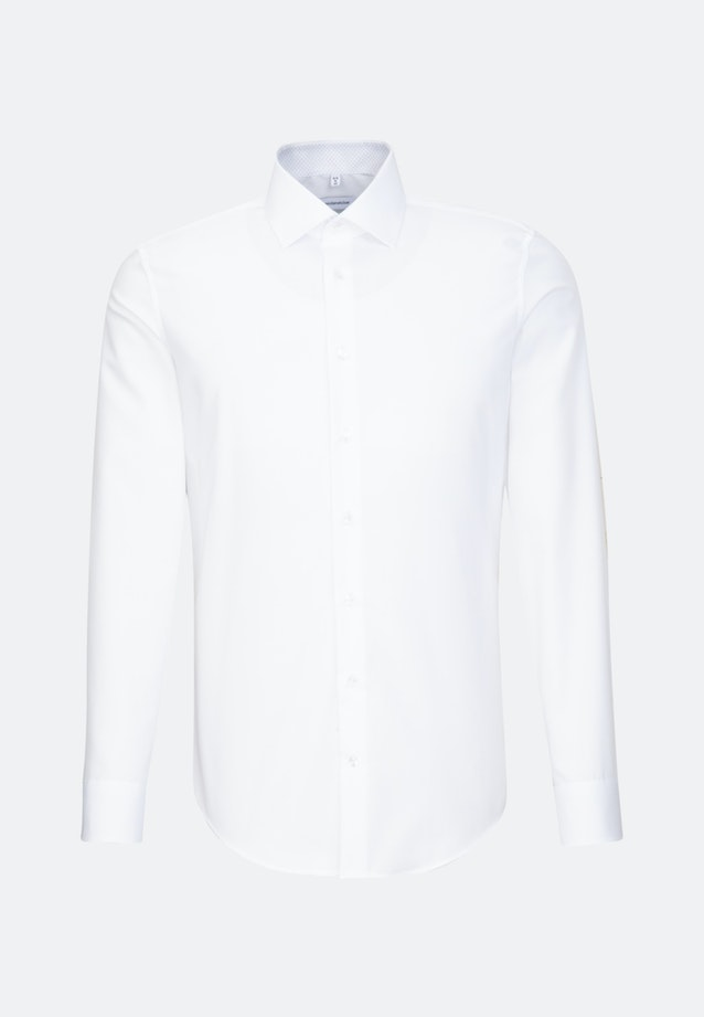 Non-iron Chambray Business Shirt in X-Slim with Kent-Collar in White |  Seidensticker Onlineshop