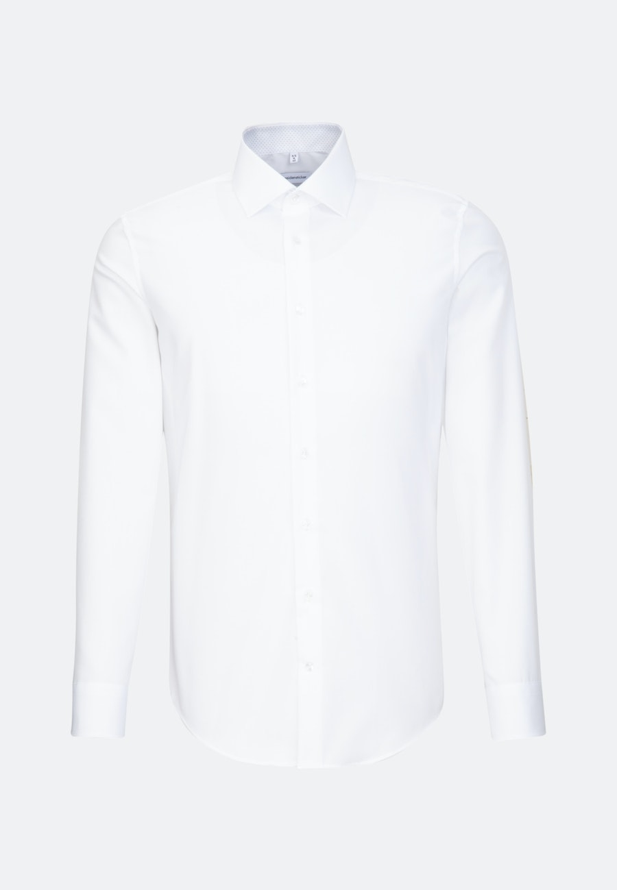Non-iron Chambray Business Shirt in Slim with Kent-Collar in White |  Seidensticker Onlineshop