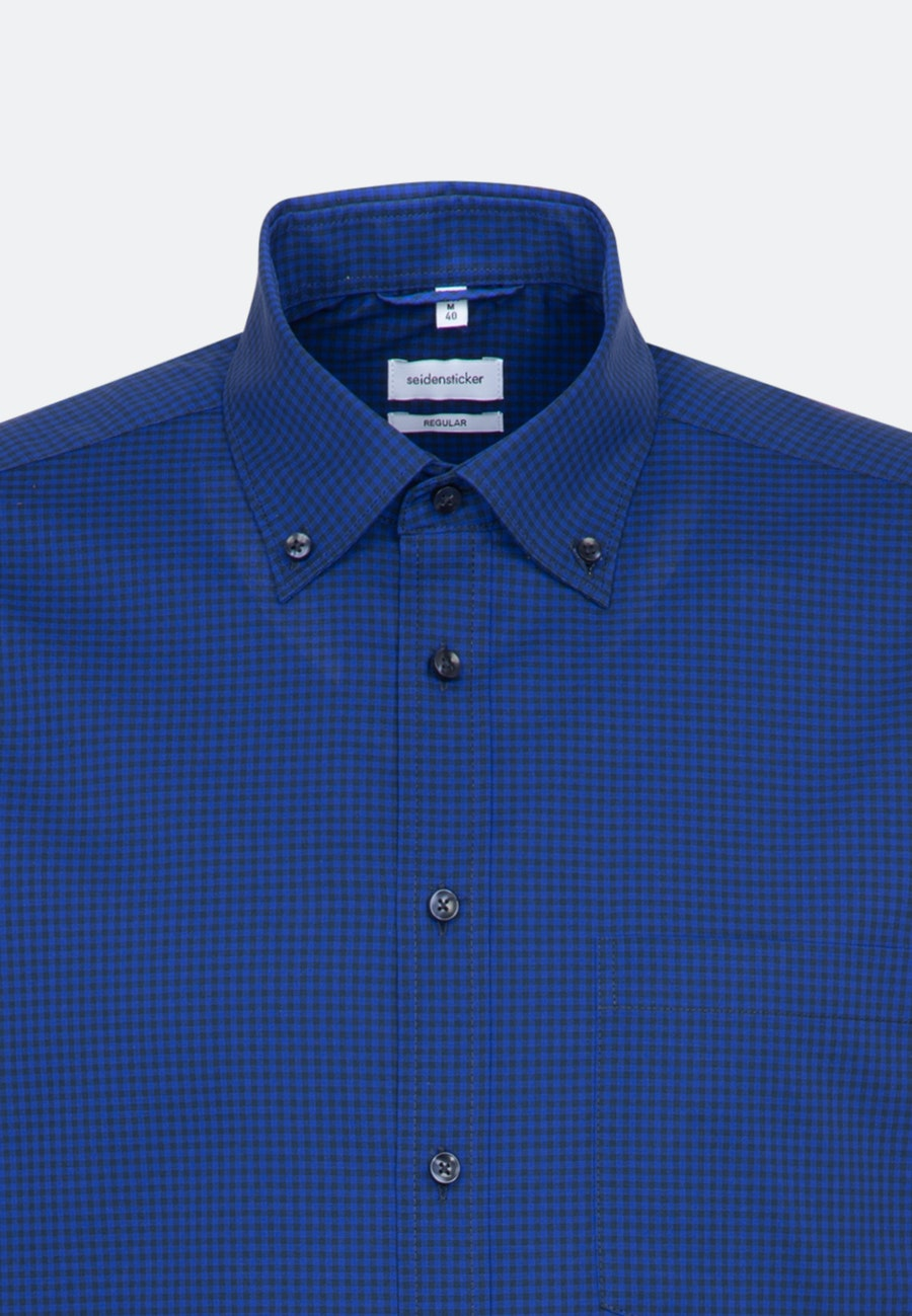 Non-iron Popeline Business Shirt in Regular with Button-Down-Collar in Medium blue |  Seidensticker Onlineshop