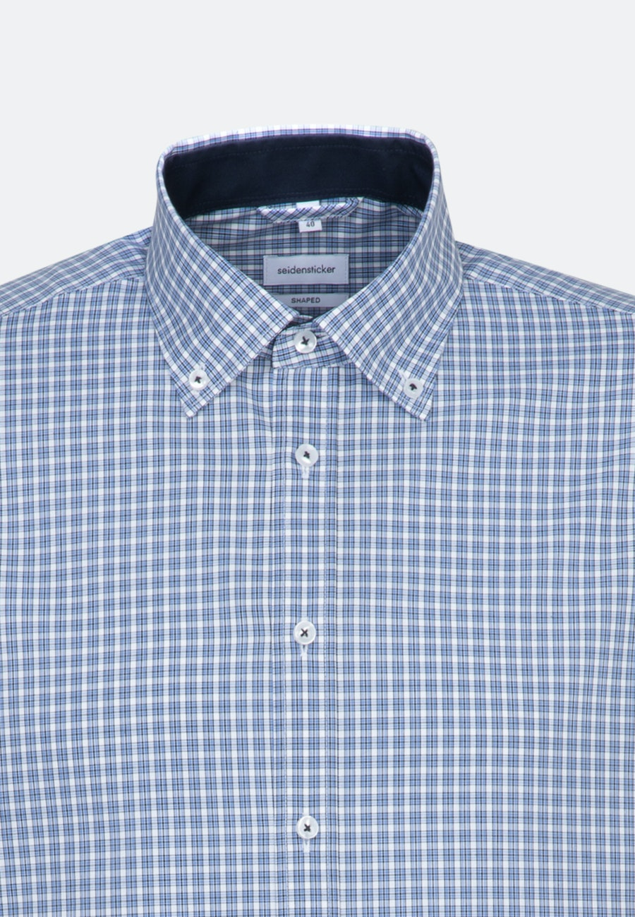 Non-iron Poplin Business Shirt in Shaped with Button-Down-Collar in Light blue |  Seidensticker Onlineshop