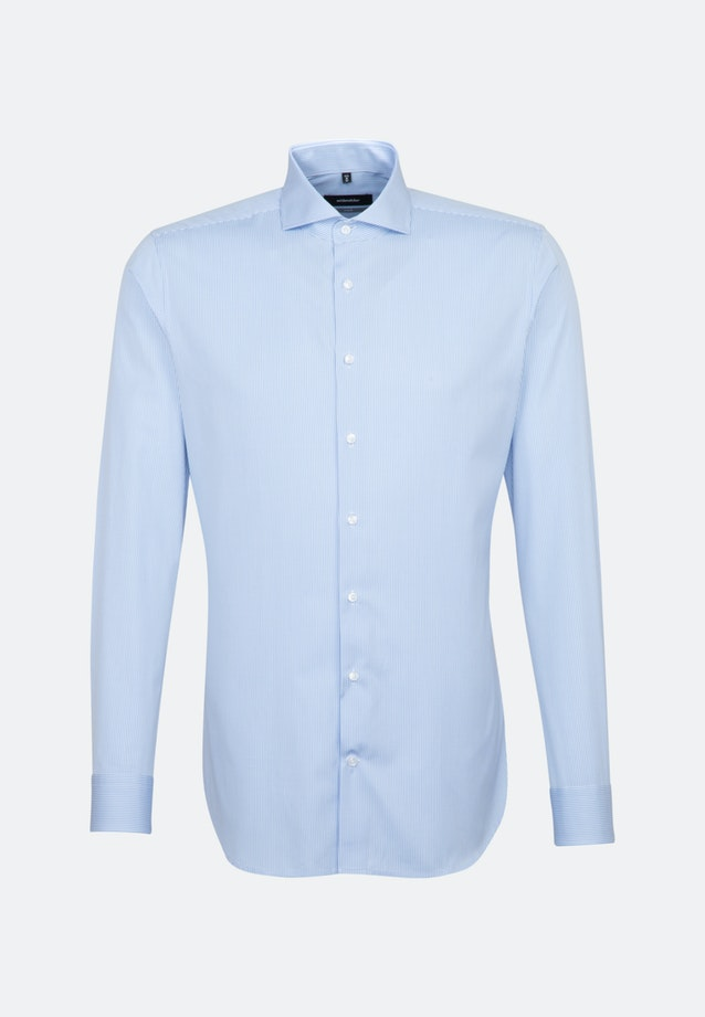 Easy-iron Poplin Business Shirt in X-Slim with Shark Collar in Light blue |  Seidensticker Onlineshop