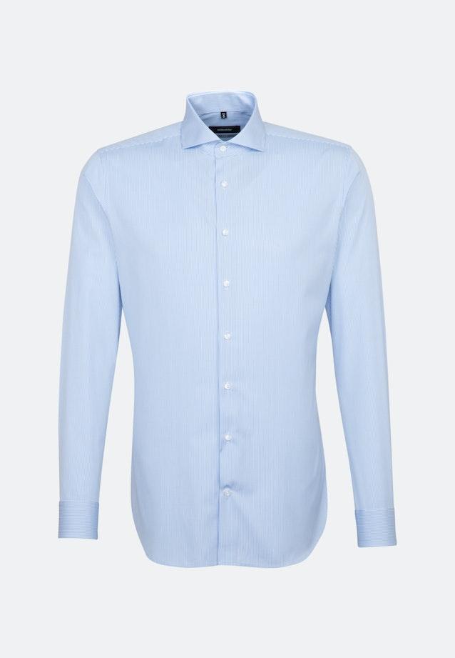 Bügelleichtes Popeline Business Hemd in X-Slim mit Haifischkragen in Hellblau |  Seidensticker Onlineshop