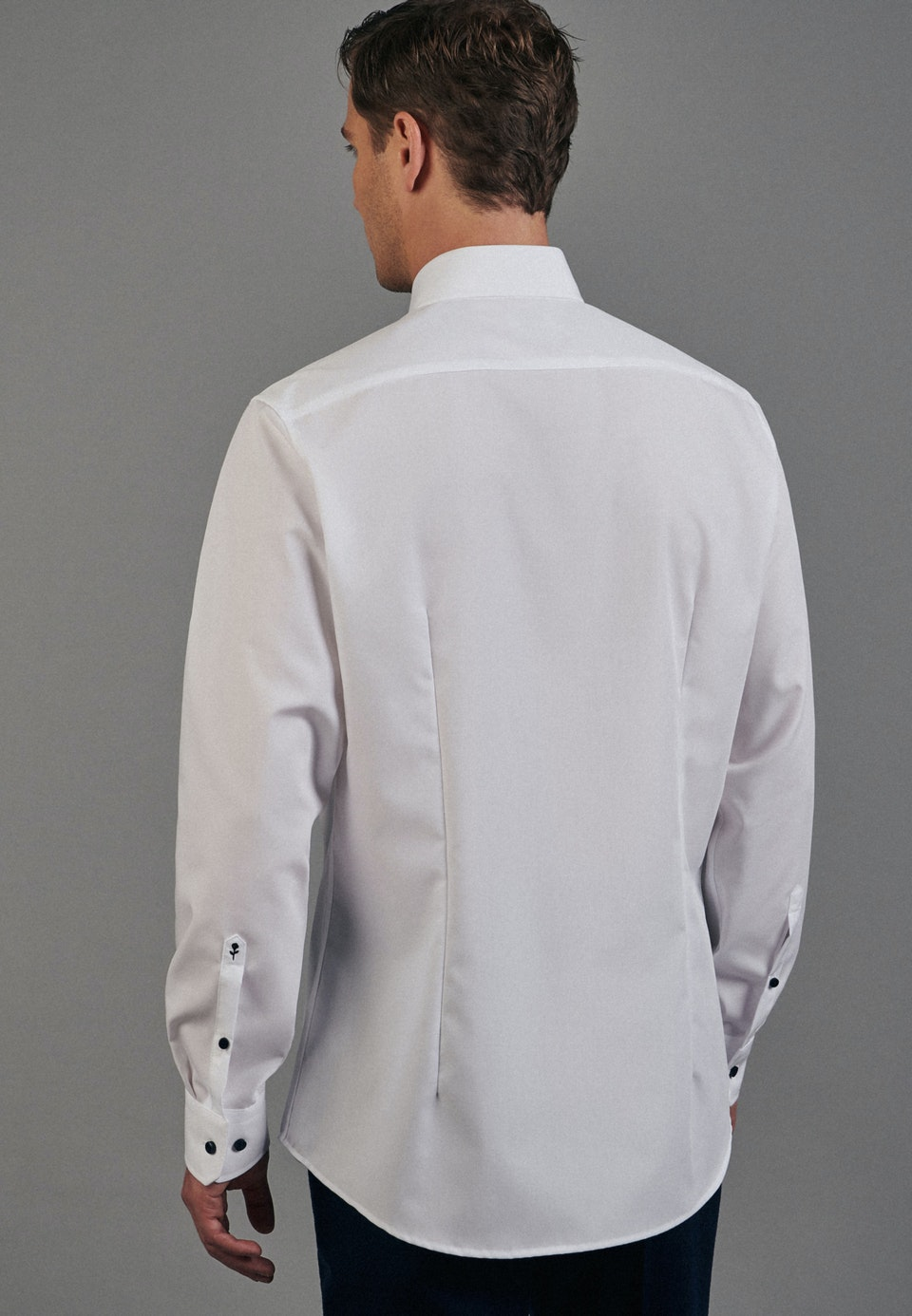 Non-iron Popeline Business Shirt in Shaped with Kent-Collar in White    Seidensticker Onlineshop