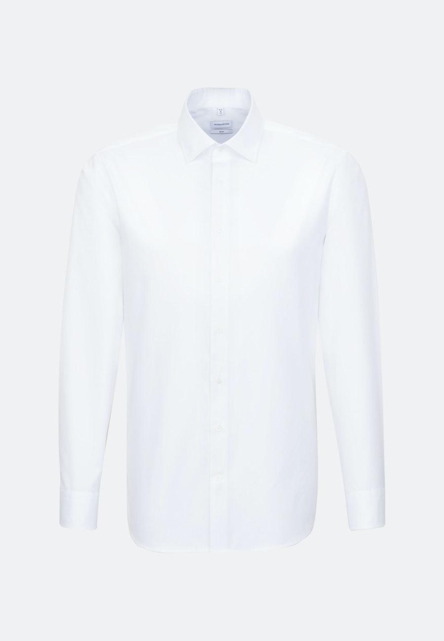 Easy-iron Satin Business Shirt in Slim with Kent-Collar in White |  Seidensticker Onlineshop