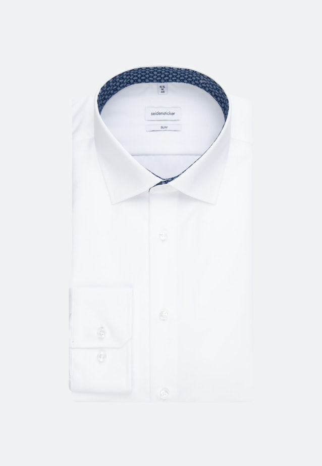 Non-iron Popeline Business Shirt in Slim with Kent-Collar in White |  Seidensticker Onlineshop