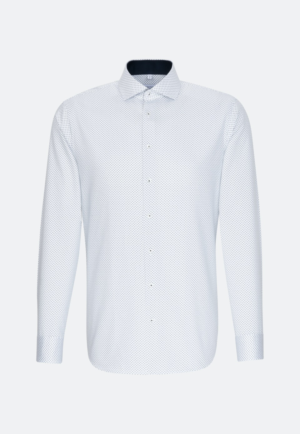 Easy-iron Twill Business Shirt in Shaped with Kent-Collar and extra long sleeve in Dark blue |  Seidensticker Onlineshop