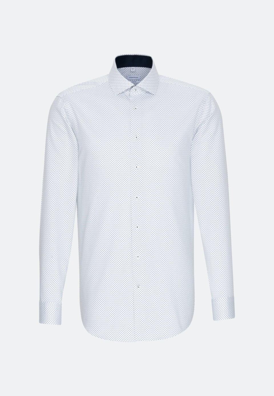 Easy-iron Twill Business Shirt in Comfort with Kent-Collar and extra long sleeve in Dark blue |  Seidensticker Onlineshop