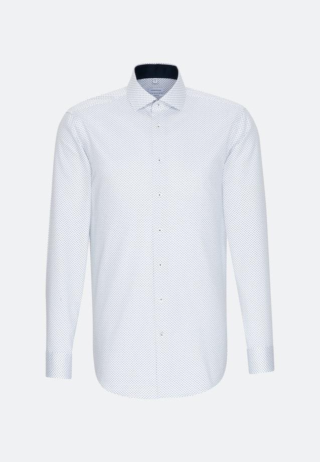 Twill Business Hemd in Comfort mit Kentkragen und extra langem Arm in Dunkelblau    Seidensticker Onlineshop