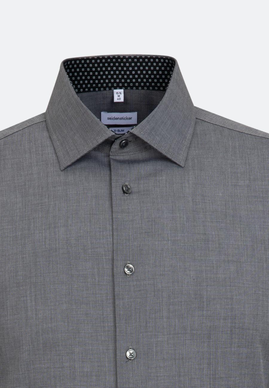 Bügelfreies Fil a fil Business Hemd in X-Slim mit Kentkragen in Grau    Seidensticker Onlineshop