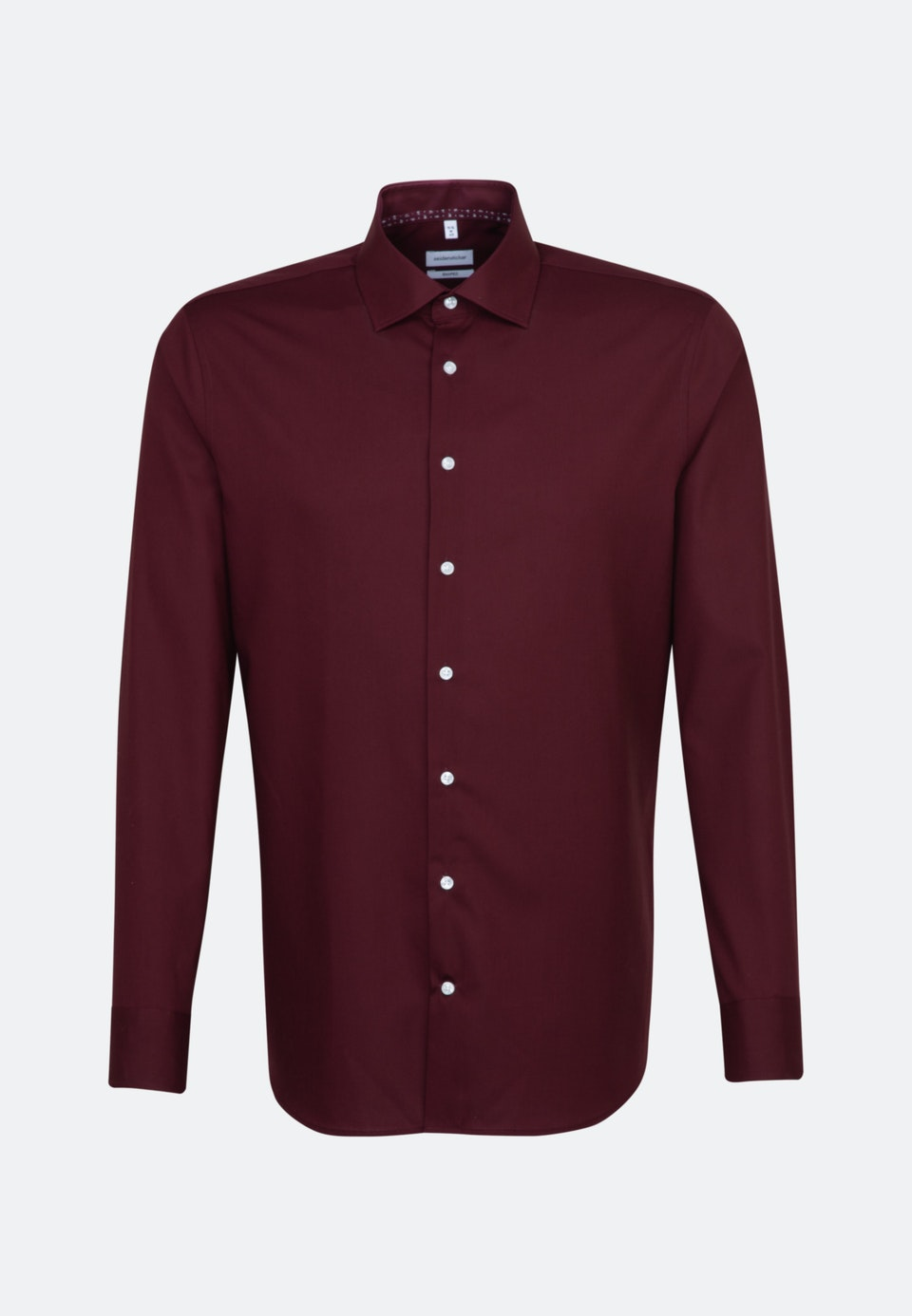 Non-iron Poplin Business Shirt in Shaped with Kent-Collar in Red |  Seidensticker Onlineshop