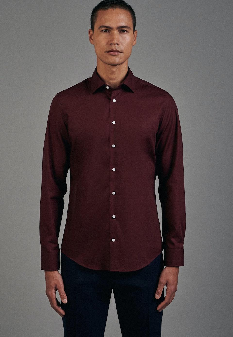Non-iron Popeline Business Shirt in Slim with Kent-Collar in Red    Seidensticker Onlineshop