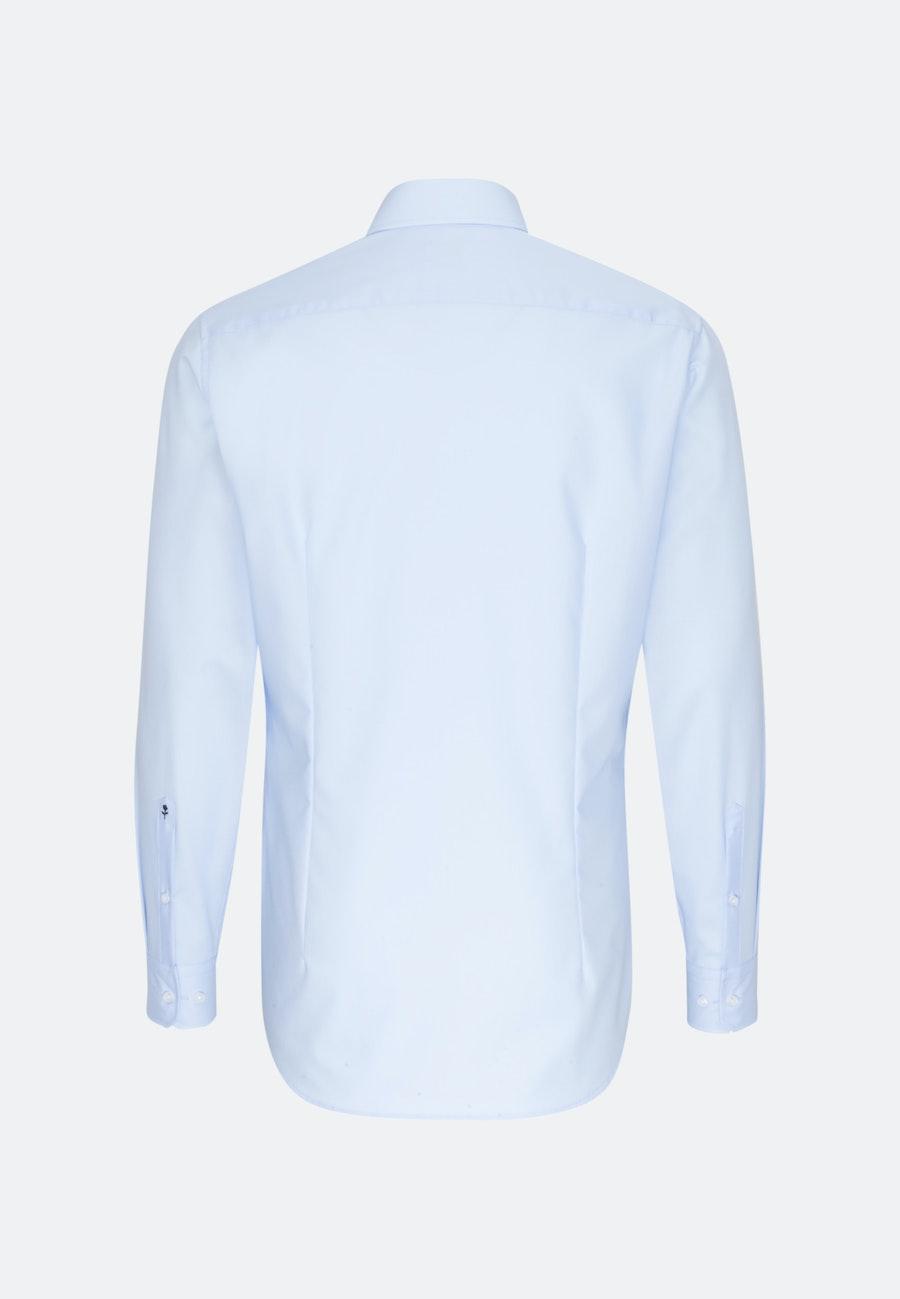Non-iron Poplin Business Shirt in Shaped with Kent-Collar in Medium blue    Seidensticker Onlineshop