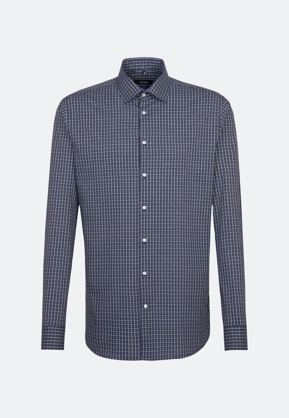 Bügelfreies Popeline Business Hemd in Shaped mit Kentkragen und extra langem Arm in Grün    Seidensticker Onlineshop