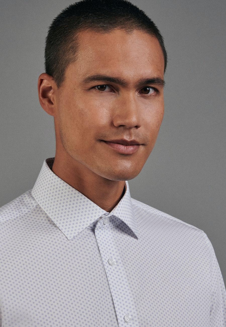 Easy-iron Popeline Business Shirt in Slim with Kent-Collar in Light blue |  Seidensticker Onlineshop
