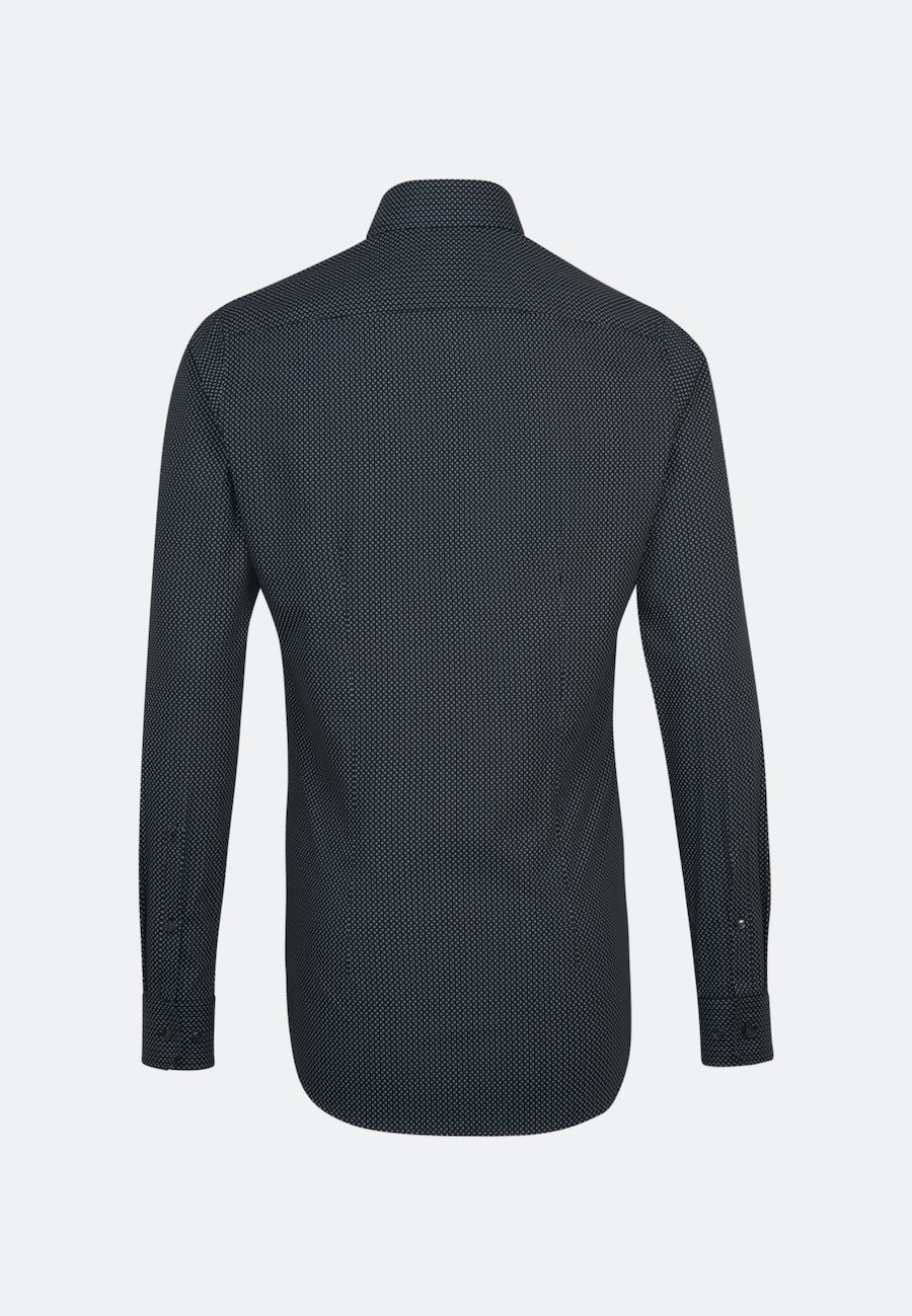 Easy-iron Poplin Business Shirt in X-Slim with Kent-Collar and extra long sleeve in Black |  Seidensticker Onlineshop