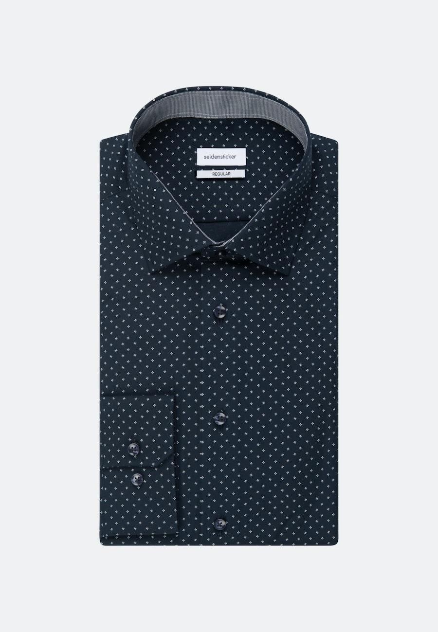 Easy-iron Popeline Business Shirt in Regular with Kent-Collar and extra long sleeve in Dark blue |  Seidensticker Onlineshop