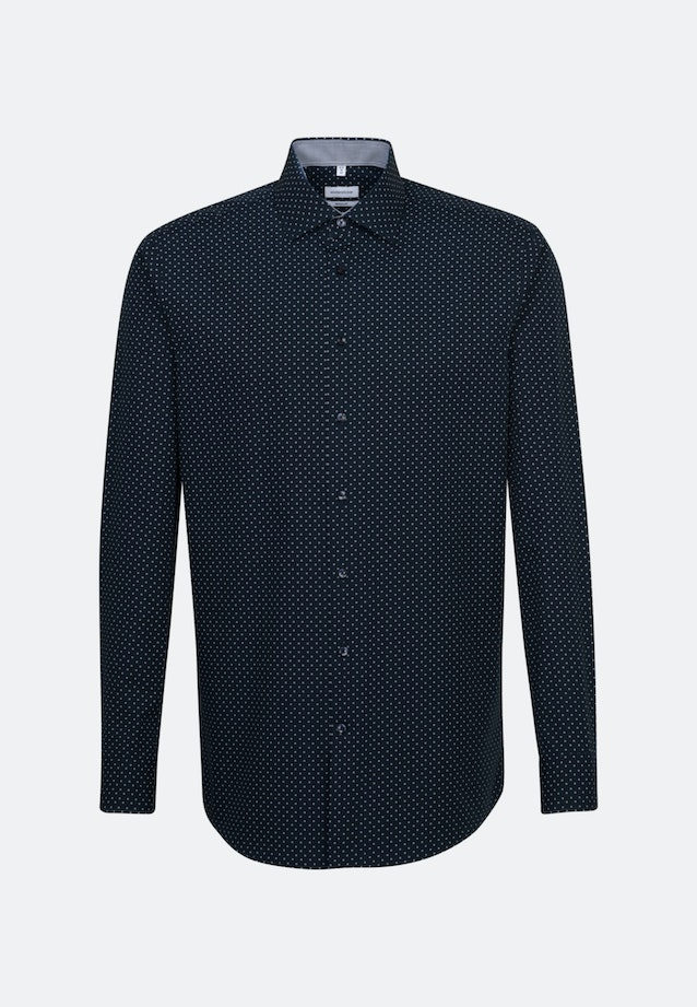 Easy-iron Popeline Business Shirt in Regular with Kent-Collar and extra long sleeve in Dark blue |  Seidensticker Onlineshop