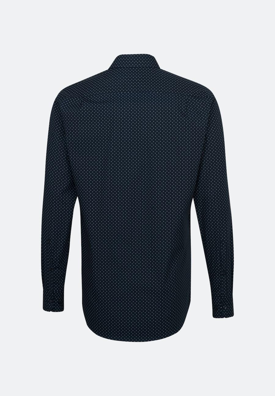 Bügelleichtes Popeline Business Hemd in Regular mit Kentkragen und extra langem Arm in Dunkelblau |  Seidensticker Onlineshop