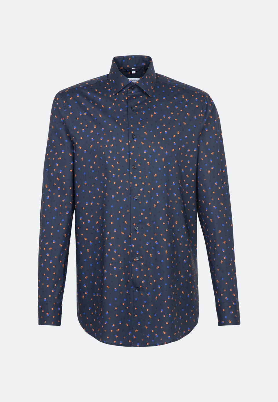 Easy-iron Poplin Business Shirt in Regular with Kent-Collar in Dark blue    Seidensticker Onlineshop
