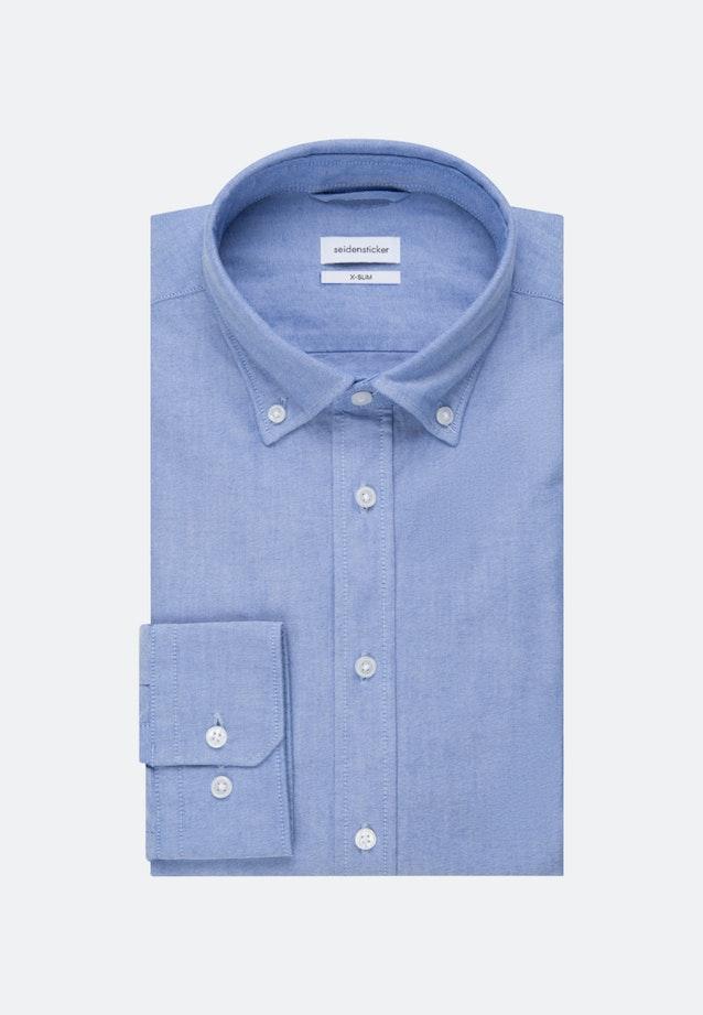 Bügelleichtes Oxford Business Hemd in X-Slim mit Button-Down-Kragen und extra langem Arm in Hellblau |  Seidensticker Onlineshop