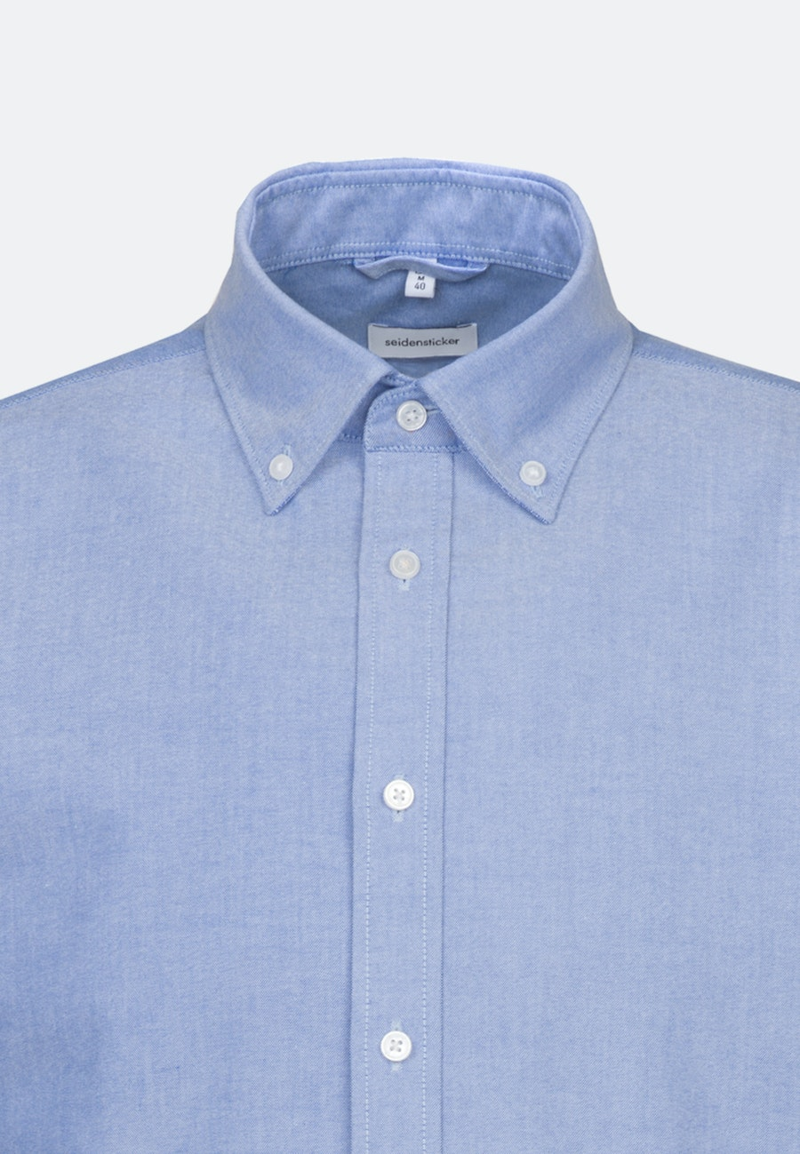 Easy-iron Oxford Business Shirt in X-Slim with Button-Down-Collar and extra long sleeve in Light blue |  Seidensticker Onlineshop
