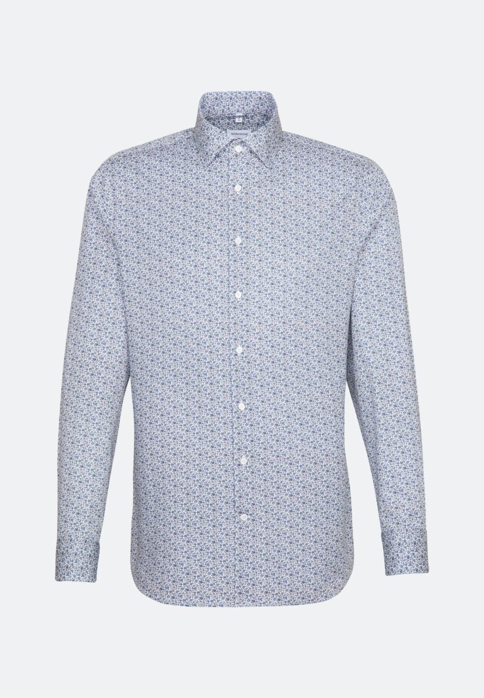 Easy-iron Twill Business Shirt in X-Slim with Kent-Collar in Light blue |  Seidensticker Onlineshop