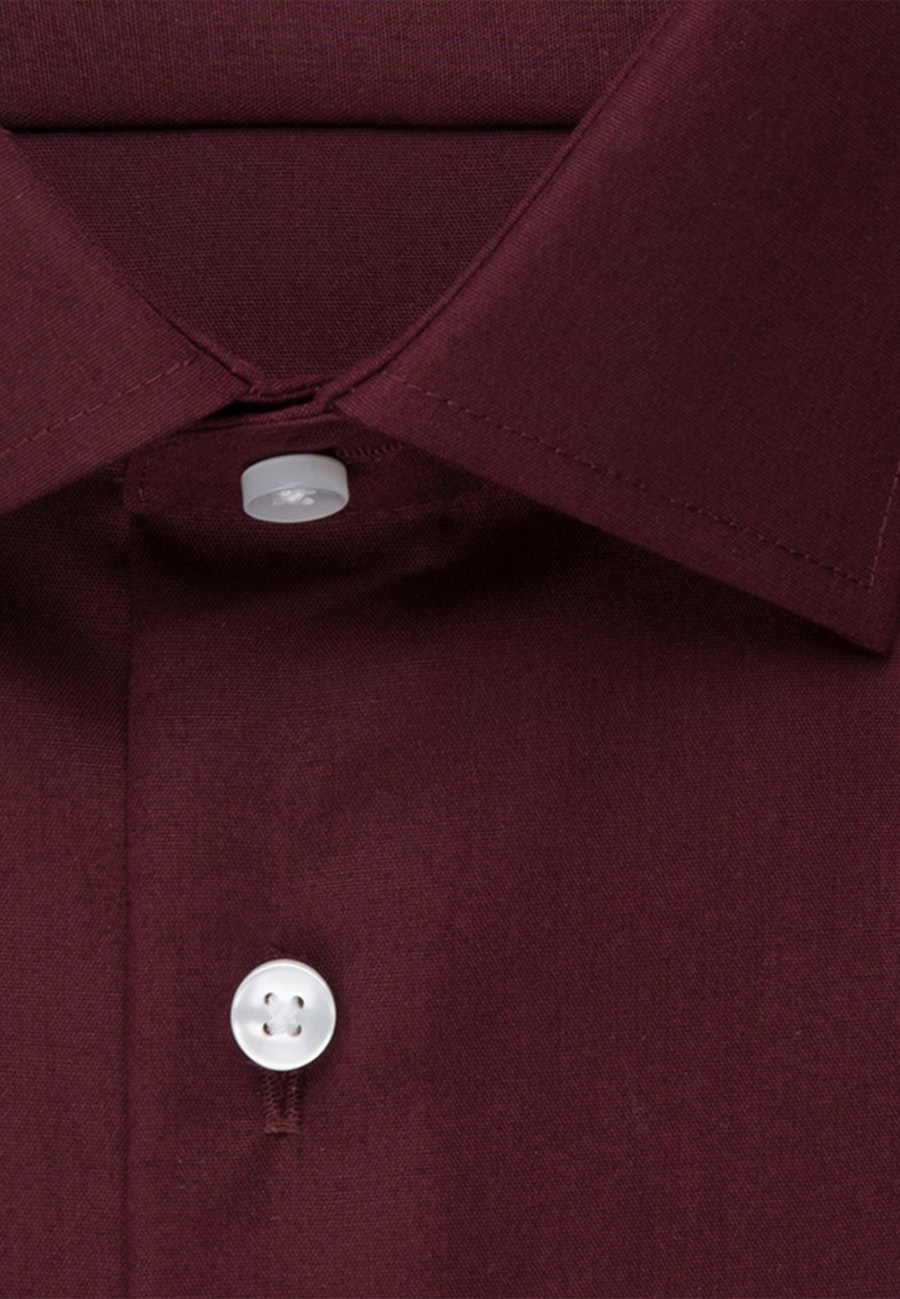 Non-iron Popeline Business Shirt in Slim with Kent-Collar and extra long sleeve in Red |  Seidensticker Onlineshop