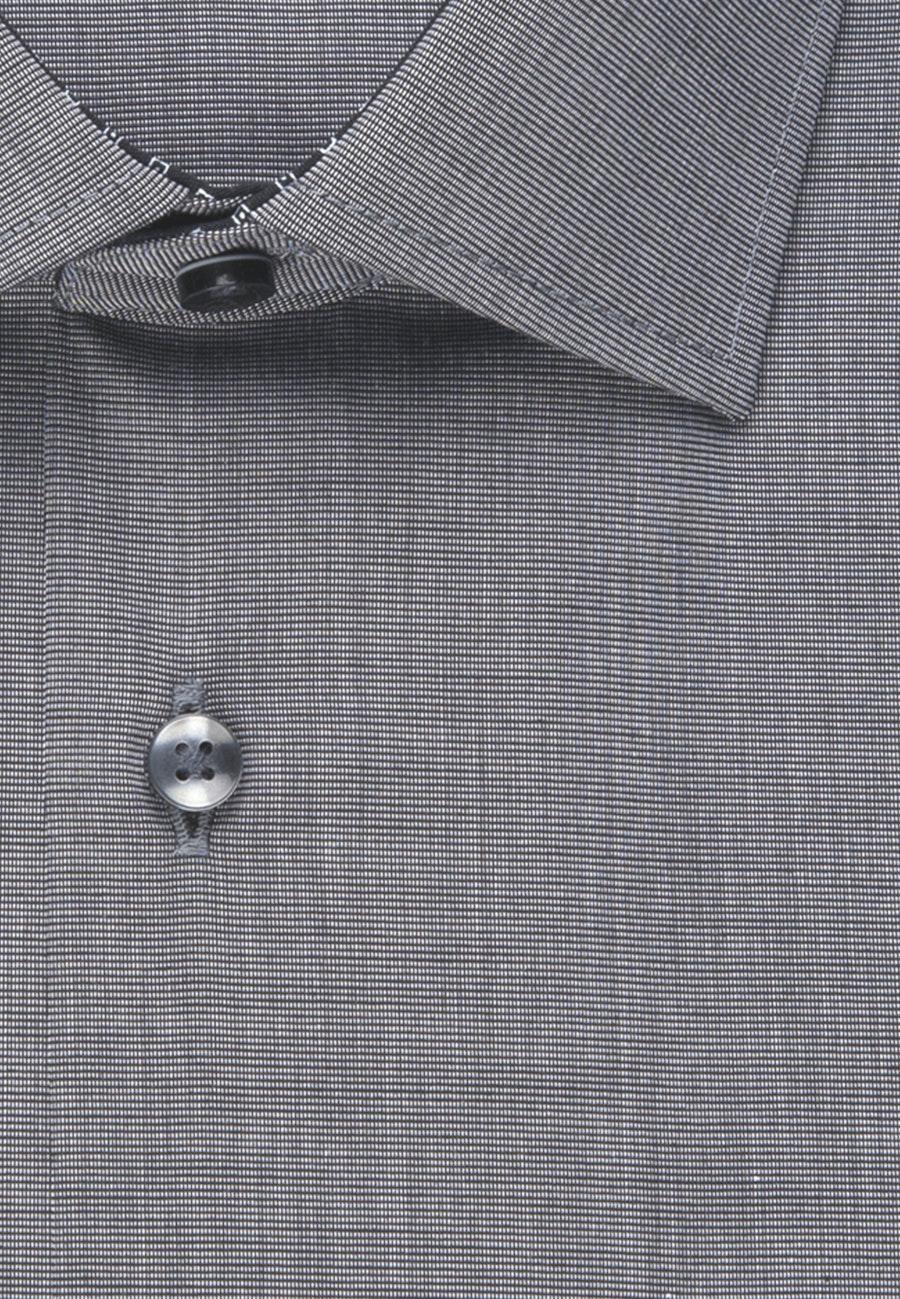 Bügelfreies Fil a fil Business Hemd in Regular mit Kentkragen und extra langem Arm in Grau |  Seidensticker Onlineshop