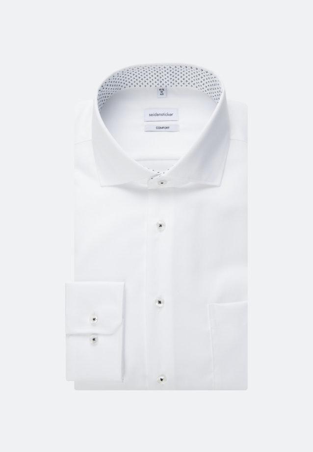 Bügelfreies Twill Business Hemd in Comfort mit Kentkragen und extra langem Arm in Weiß    Seidensticker Onlineshop