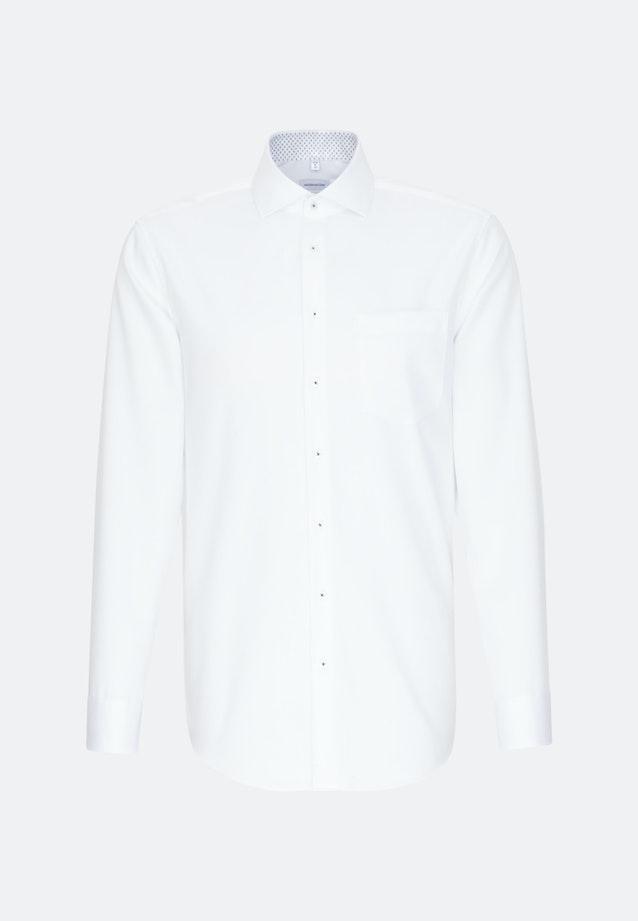 Bügelfreies Twill Business Hemd in Comfort mit Kentkragen und extra langem Arm in Weiß |  Seidensticker Onlineshop