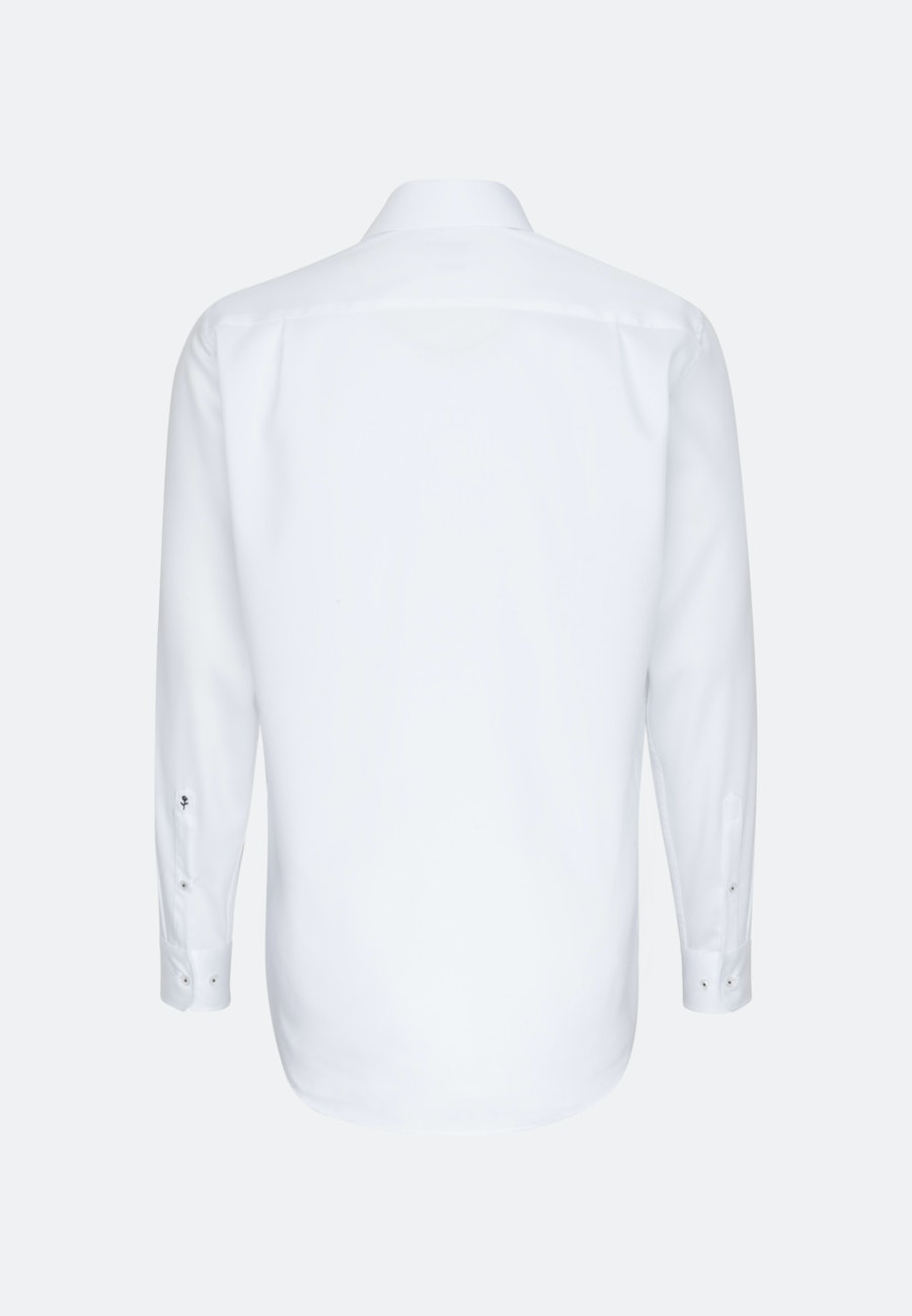 Non-iron Twill Business Shirt in Comfort with Kent-Collar and extra long sleeve in White |  Seidensticker Onlineshop