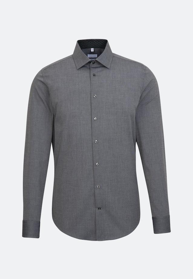 Bügelfreies Fil a fil Business Hemd in Slim mit Kentkragen und extra langem Arm in Grau |  Seidensticker Onlineshop