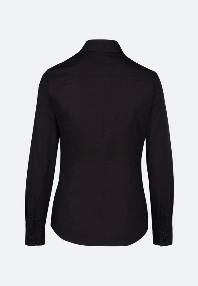 Poplin Shirt Blouse made of cotton blend in Black    Seidensticker Onlineshop