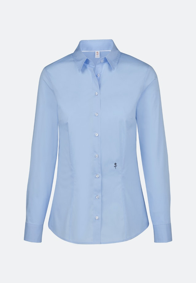 Poplin Shirt Blouse made of cotton blend in Light blue |  Seidensticker Onlineshop