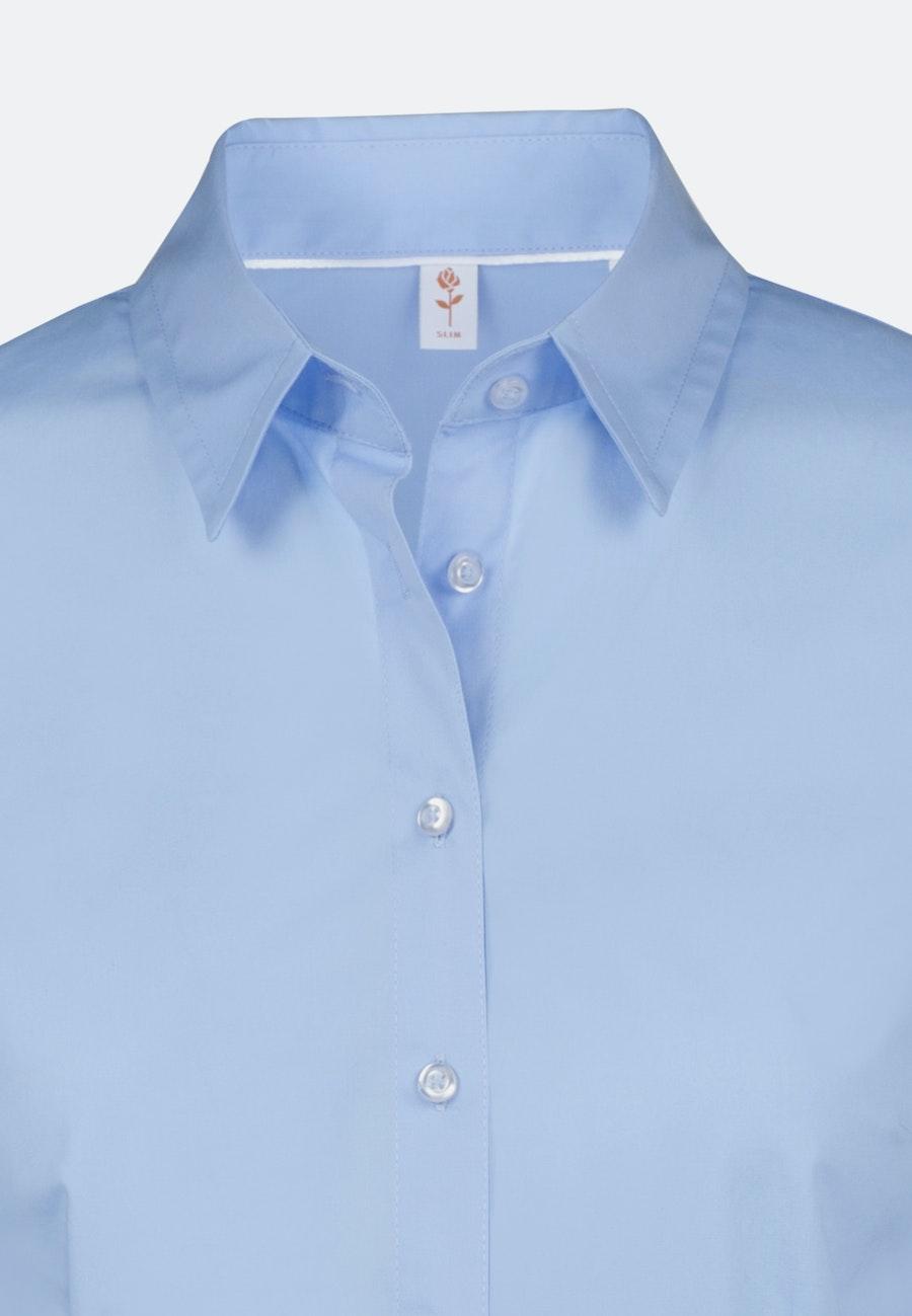 Popeline Shirt Blouse made of cotton blend in Light blue |  Seidensticker Onlineshop