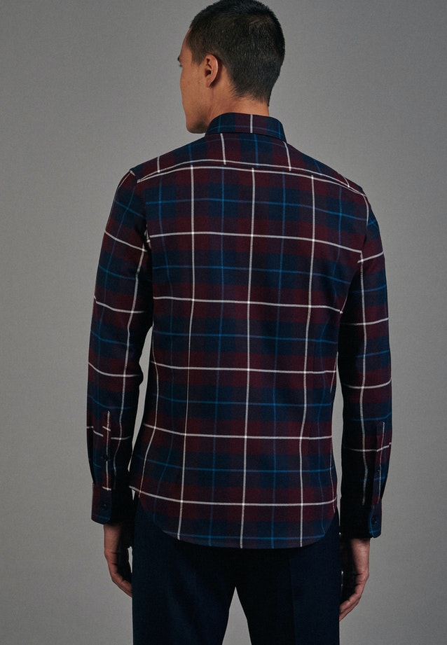 Flanell Business Shirt in Slim with Button-Down-Collar in Red |  Seidensticker Onlineshop