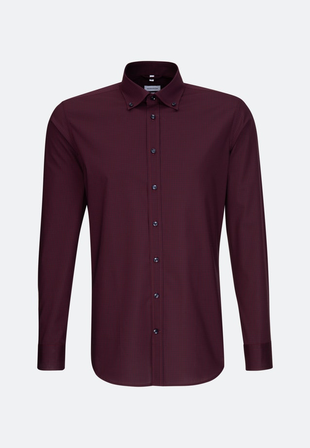 Bügelfreies Popeline Business Hemd in X-Slim mit Button-Down-Kragen in Rot |  Seidensticker Onlineshop