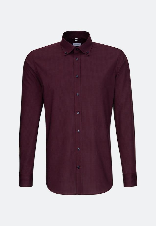 Non-iron Popeline Business Shirt in X-Slim with Button-Down-Collar in Red |  Seidensticker Onlineshop