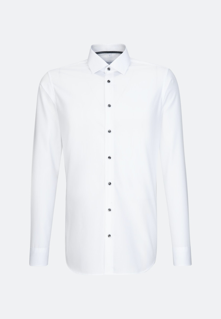 Non-iron Popeline Business Shirt in X-Slim with Kent-Collar and extra long sleeve in White |  Seidensticker Onlineshop