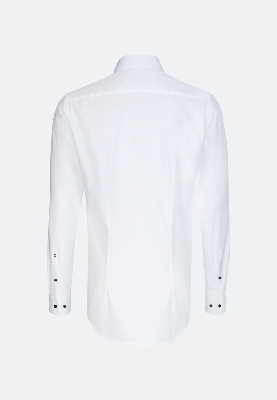 Non-iron Poplin Business Shirt in X-Slim with Kent-Collar and extra long sleeve in White |  Seidensticker Onlineshop
